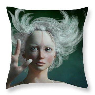 White Faun Throw Pillow