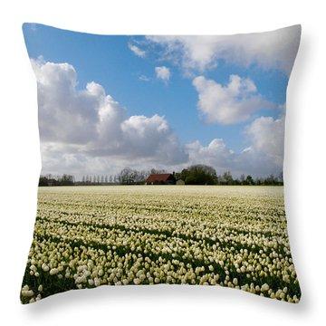 White Field Throw Pillow