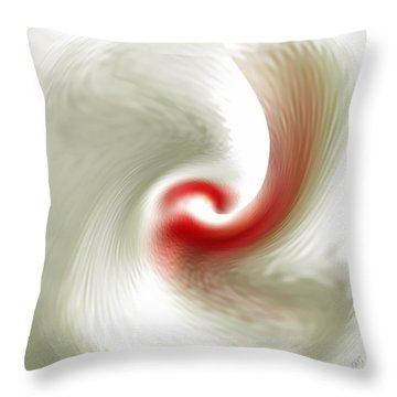 White Flower Abstraction Throw Pillow