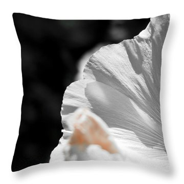 White Flower Detail Throw Pillow