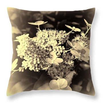 white flower SV Throw Pillow
