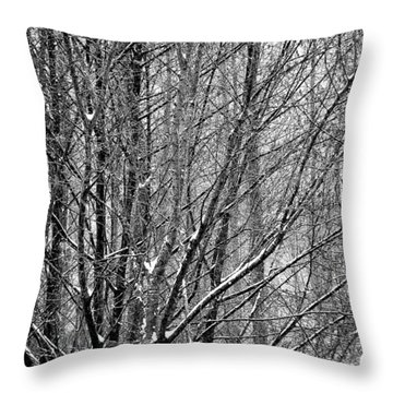 White Forest Throw Pillow