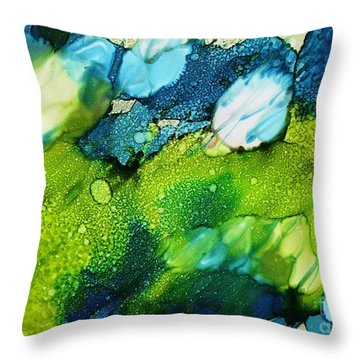 White Fusion Throw Pillow