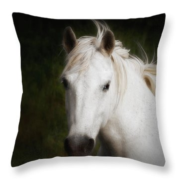 White Horse Of The Carmargue Throw Pillow
