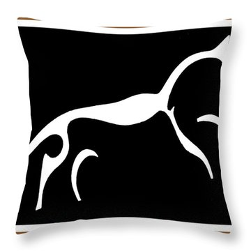 White Horse Of Uffington Throw Pillow