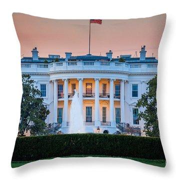 White House Throw Pillow by Inge Johnsson