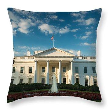 White House Sunrise Throw Pillow by Steve Gadomski