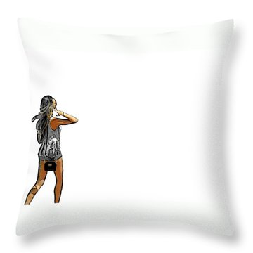 White Throw Pillow by J Anthony