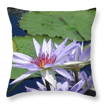 Throw Pillow featuring the photograph White Lilies by Chrisann Ellis