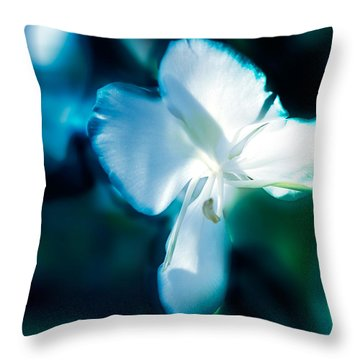 White Lily Throw Pillow by Frank Bright