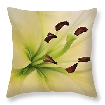 White Lily Pp-6 Throw Pillow