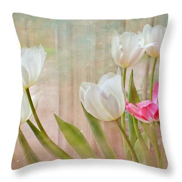 White Lily Show Throw Pillow