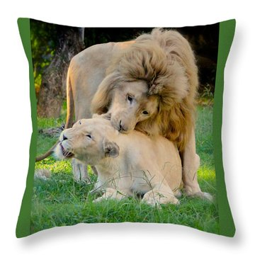 How About A Nibble My Love Throw Pillow