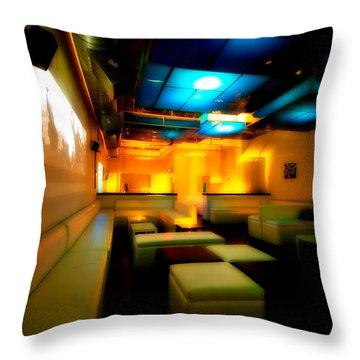White Lounge Throw Pillow by Melinda Ledsome