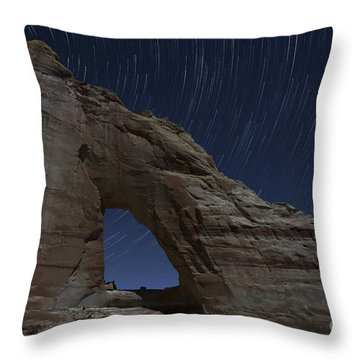 White Mesa Arch Throw Pillow