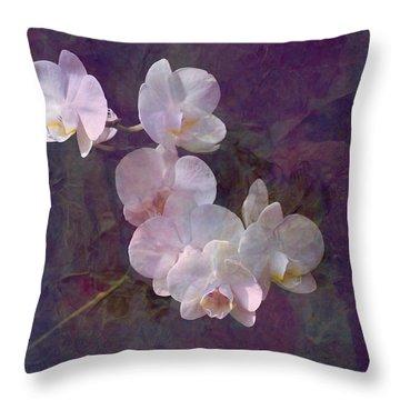 White Mirage Throw Pillow