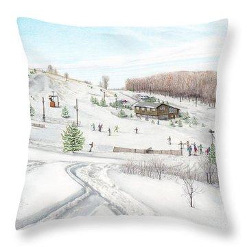 White Mountain Resort Throw Pillow