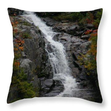 Throw Pillow featuring the photograph White Mountain Water Fall  by Denyse Duhaime