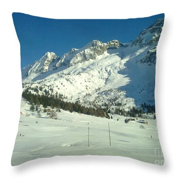 Throw Pillow featuring the photograph White Mountains by Ramona Matei