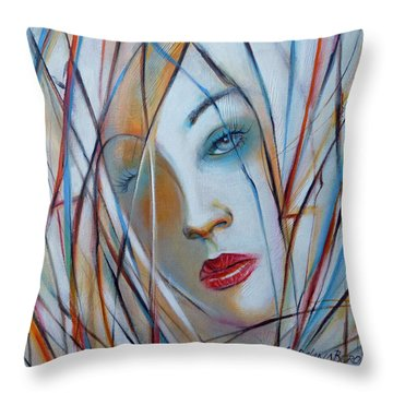 White Nostalgia 010310 Throw Pillow