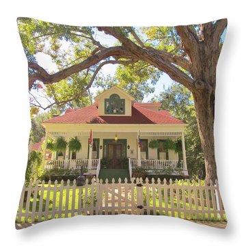 White Oak Manor Jefferson Texas Throw Pillow by Donna Wilson