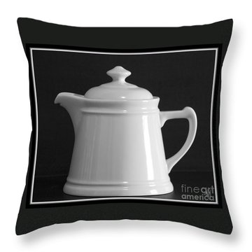 Throw Pillow featuring the photograph White On Black by Victoria Harrington