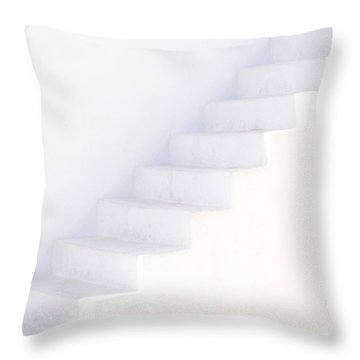 White On White Throw Pillow by Lisa Parrish