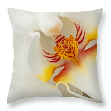 White Orchid 2 Throw Pillow