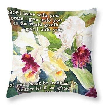 White Orchid John 14 Throw Pillow