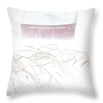 White-out Throw Pillow by Tim Good
