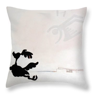 White Palm Springs Idyll Throw Pillow by Stan  Magnan