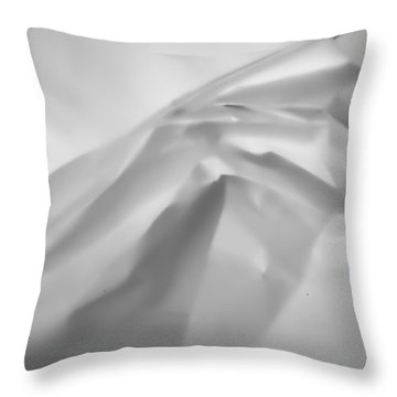 White Paper Throw Pillow by Hugh Smith