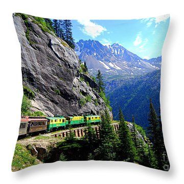 White Pass And Yukon Route Railway In Canada Throw Pillow