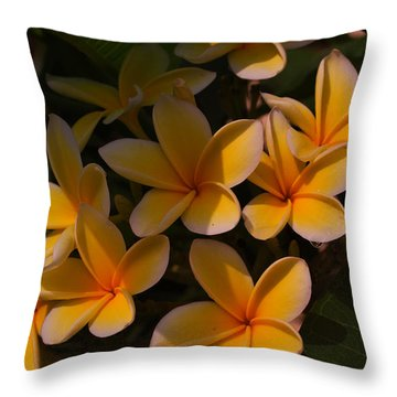 Throw Pillow featuring the photograph White Plumeria by Miguel Winterpacht