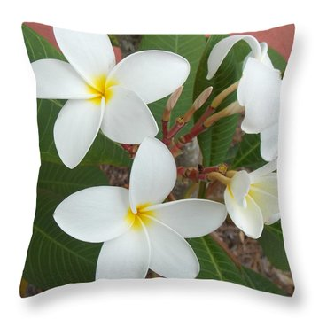 Fragipani Throw Pillows