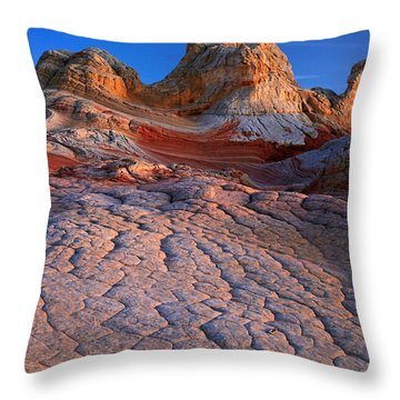 White Pocket Afterglow Throw Pillow by Inge Johnsson