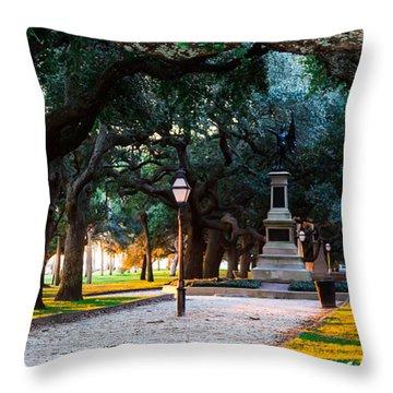 White Point Garden Walkway Charleston Sc Throw Pillow