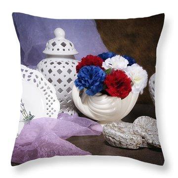 White Porcelain Still Life Throw Pillow