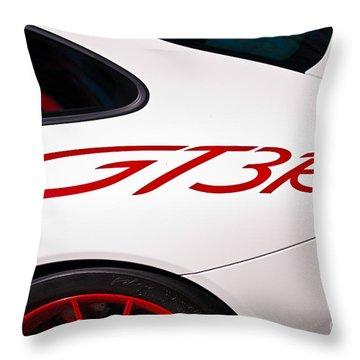 White Porsche Gt3rs - Rear Quarter Throw Pillow