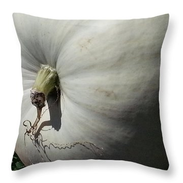 White Pumpkin Throw Pillow