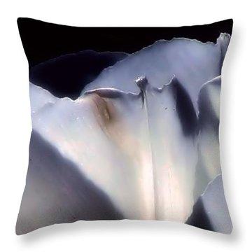 White Queen Throw Pillow by Roxy Riou