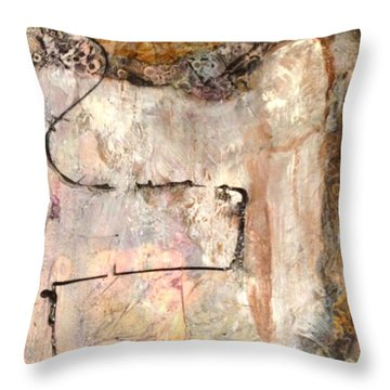 White Robe Throw Pillow