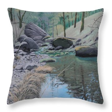 White Rock Creek Throw Pillow