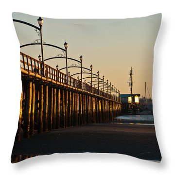 Throw Pillow featuring the photograph White Rock Pier by Sabine Edrissi