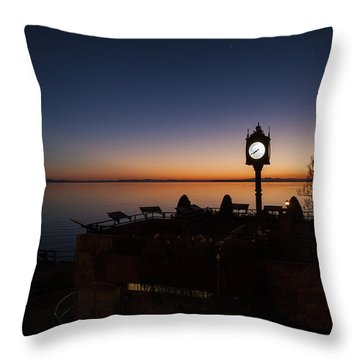 White Rocks Clock 2015 Throw Pillow