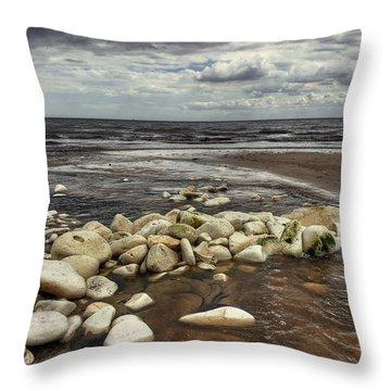 White Rocks Throw Pillow by Svetlana Sewell