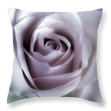 White Roses Flowers Art Work Photography Throw Pillow