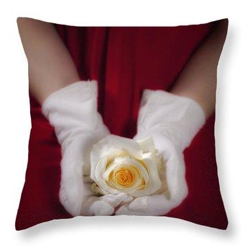 White Rose Throw Pillow by Joana Kruse