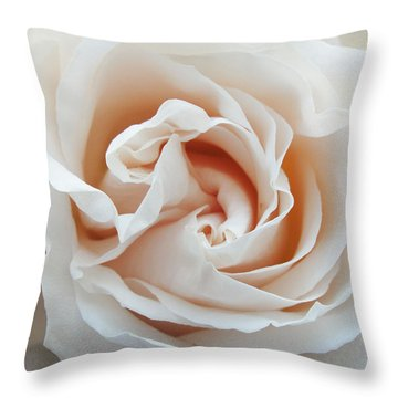 White Rose Throw Pillow by Tiffany Erdman