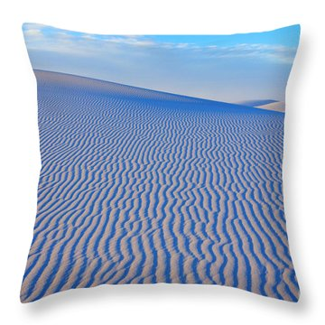 White Sand Patterns New Mexico Throw Pillow by Bob Christopher